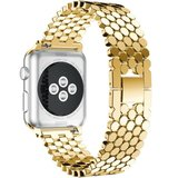 Curea iUni compatibila cu Apple Watch 1/2/3/4/5/6, 38mm, Jewelry, Otel Inoxidabil, Gold